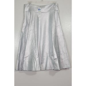 NWT Agnes and Dora Silver Midi Skirt SZ Med